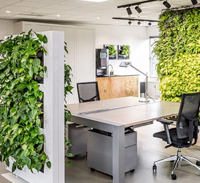 Free standing plant wall divider - verti pocket system - living green walls